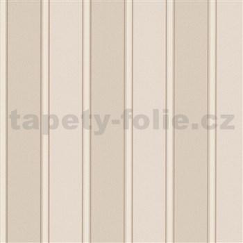 Vliesové tapety na zeď Modern Classics pruhy hnědo-krémové