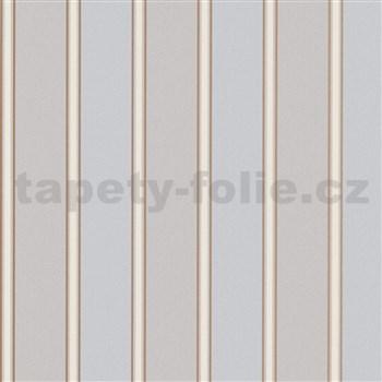 Vliesové tapety na zeď Modern Classics pruhy hnědo-šedé