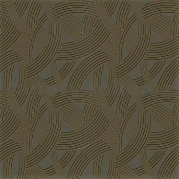 Vliesové tapety na zeď Instawalls moderní vzor zlato-černý na šedém podkladu