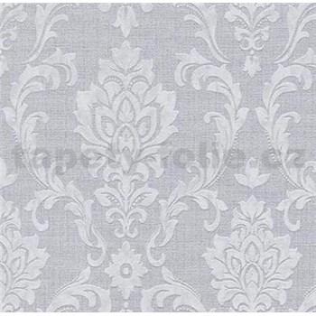 Vliesové tapety na zeď Classic zámecký vzor šedý