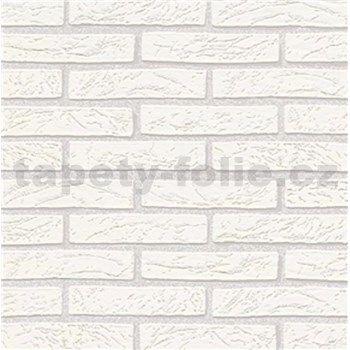 Vliesové tapety na zeď Imitations cihla bílá