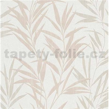 Vliesové tapety na zeď Mix Up bambusové listy hnědé a bílé