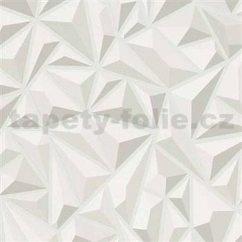 Vliesové tapety na zeď Mix Up 3D jehlany světle šedé