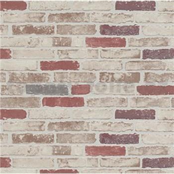 Vliesové tapety na zeď Imitations cihla červeno-bílá