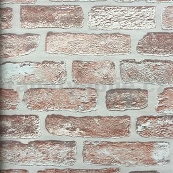 Vliesové tapety na zeď cihla hnědá