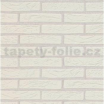Vinylové tapety na zeď Imitations cihla bílá