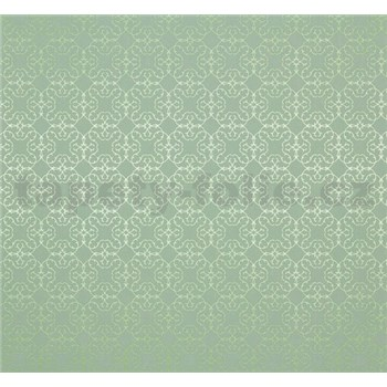 Vliesové tapety na zeď Estelle vzor metalický zelený
