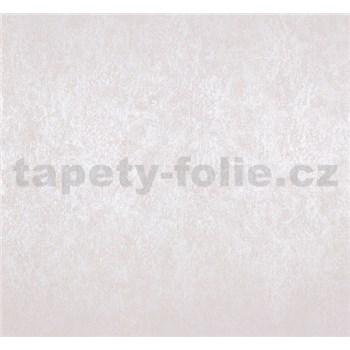 Vliesové tapety na zeď Estelle metalická bílo-krémová