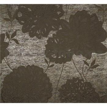 Vliesové tapety na zeď Estelle květy hnědé