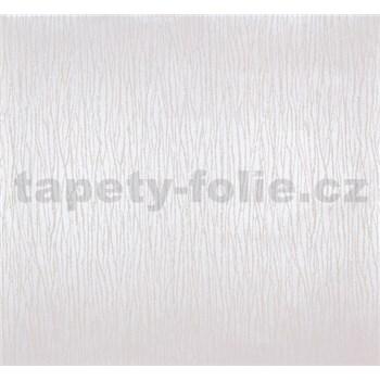 Vliesové tapety na zeď Estelle vlnky krémové na metalickém podkladu