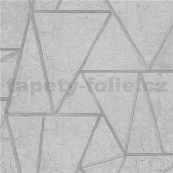 Vliesové tapety na zeď Exposure SOHO obklady šedé se stříbrnými švy