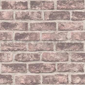 Vliesové tapety na zeď Exposure cihly červené