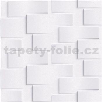 Vliesové tapety na zeď Exposure 3D kamenné kostky bílé