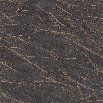 Vliesové tapety na zeď IMPOL Factory 4 mramor tmavě šedý se zlatým žíháním