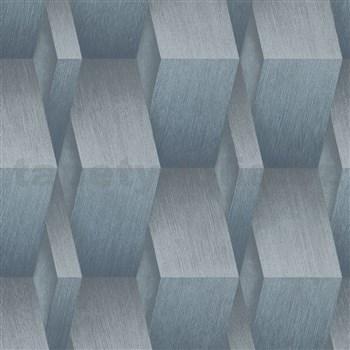 Vliesové tapety na zeď G.M.K. Fashion for walls 3D hrany šedo-modré