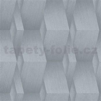 Vliesové tapety na zeď G.M.K. Fashion for walls 3D hrany stříbrné