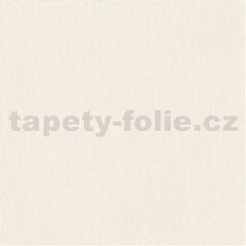 Vliesové tapety na zeď Felicita strukturovaná jednobarevná krémová