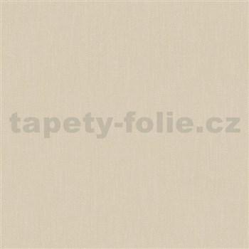 Vliesové tapety na zeď Felicita strukturovaná jednobarevná béžová