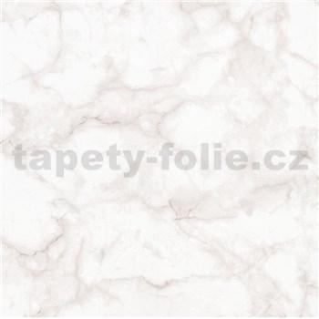 Vliesové tapety na zeď Felicita mramor Carrara růžový matný