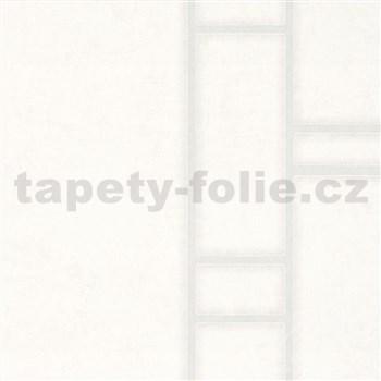 Vliesové tapety na zeď Felicita obdélníky krémové se stříbrným ohraničením