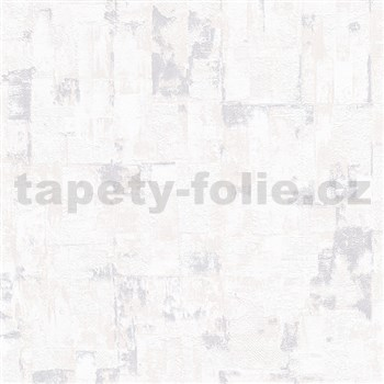 Vliesové tapety na zeď IMPOL Finesse stěrkovaná omítkovina krémově bílá se stříbrnými odlesky