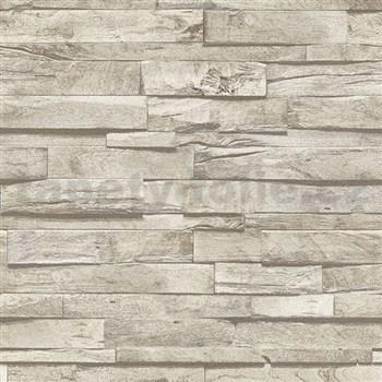 Vliesové tapety na zeď IMPOL Finesse 3D dřevo světle hnědé