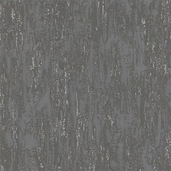 Vliesové tapety na zeď IMPOL Finesse vertikální stěrka tmavě šedá se stříbrnými odlesky