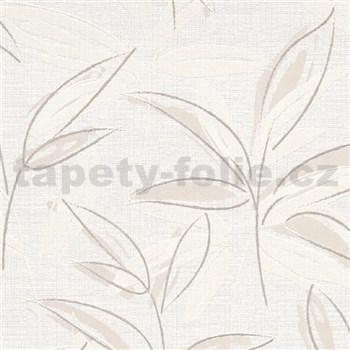 Vliesové tapety na zeď IMPOL Finesse abstraktní listy hnědé