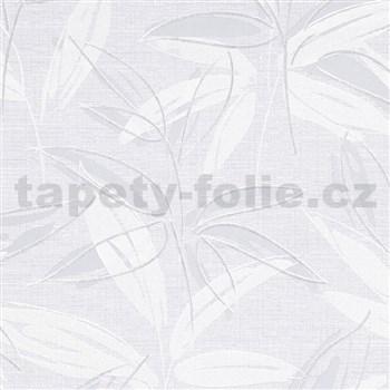 Vliesové tapety na zeď IMPOL Finesse abstraktní listy šedé