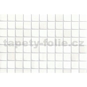 Samolepící tapety - malé kachličky bílé 45 cm x 15 m