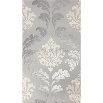 Vliesové tapety Einfach Shöner zámecký vzor stříbrno-bílý