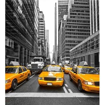 Vliesové fototapety žluté taxíky rozměr 225 cm x 250 cm