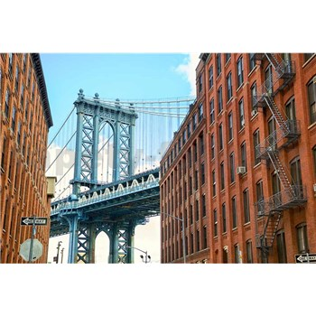 Vliesové fototapety Manhattan Bridge rozměr 375 cm x 250 cm