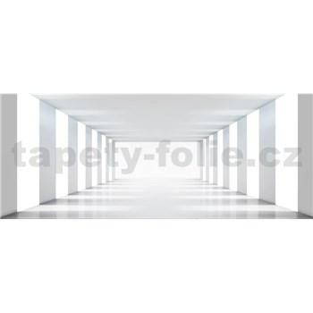 Vliesové fototapety bílá chodba rozměr 375 cm x 150 cm
