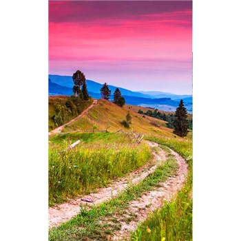Vliesové fototapety kvetoucí kopce rozměr 150 cm x 250 cm
