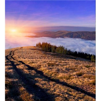Vliesové fototapety svítání v horách rozměr 225 cm x 250 cm