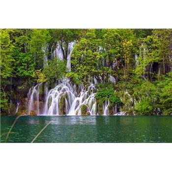 Vliesové fototapety Plitvická jezera rozměr 375 cm x 250 cm