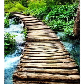 Vliesové fototapety most přes potok rozměr 225 cm x 250 cm