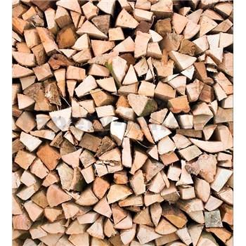 Vliesové fototapety dřevěné špalky rozměr 225 cm x 250 cm