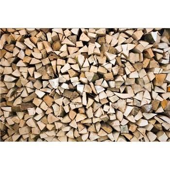 Vliesové fototapety dřevěné špalky rozměr 375 cm x 250 cm