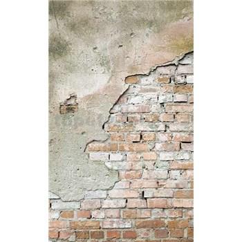 Vliesové fototapety cihlová stěna s omítkou rozměr 150 cm x 250 cm