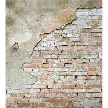 Vliesové fototapety cihlová stěna s omítkou rozměr 225 cm x 250 cm