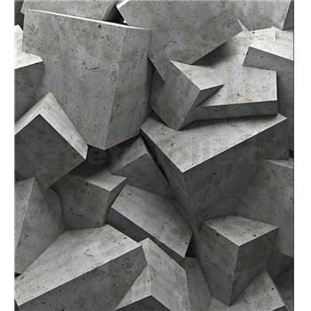 Vliesové fototapety 3D betonové kostky rozměr 225 cm x 250 cm