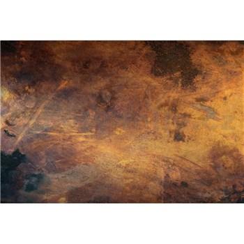 Vliesové fototapety měď škrábaná rozměr 375 cm x 250 cm