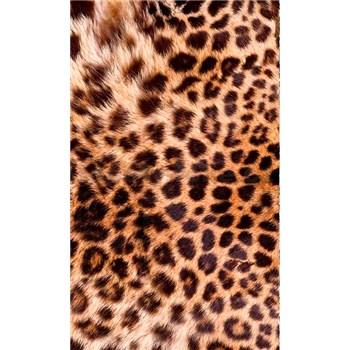 Vliesové fototapety leopardí kůže rozměr 150 cm x 250 cm