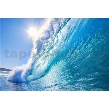Vliesové fototapety mořské vlny rozměr 375 cm x 250 cm