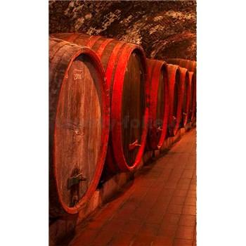 Vliesové fototapety sudy s vínem rozměr 150 cm x 250 cm