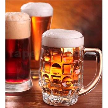 Vliesové fototapety pivo rozměr 225 cm x 250 cm