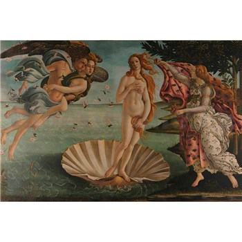 Vliesové fototapety zrození Venuše - Sandro Botticelli rozměr 375 cm x 250 cm
