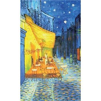 Vliesové fototapety terasa kavárny v noci - Vincent Van Gogh rozměr 150 cm x 250 cm